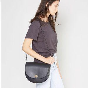 Mansur Gavriel Saddle Leather Shoulder Bag NWT
